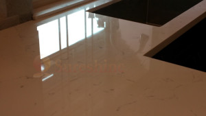 Engineered Stone after repair and polishing